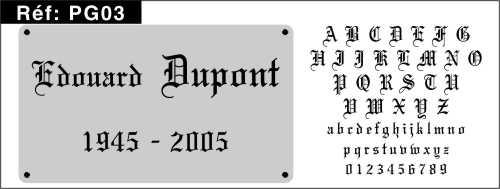 Polices et caractres pour le funraire sabler gothique pochoir stencil funraire lettres gothique rf grava pg03 thecheapjerseys Image collections